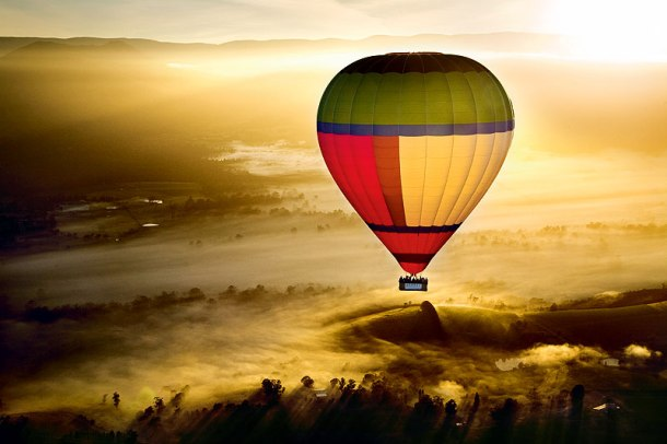 Ballooning over the Yarra Valley