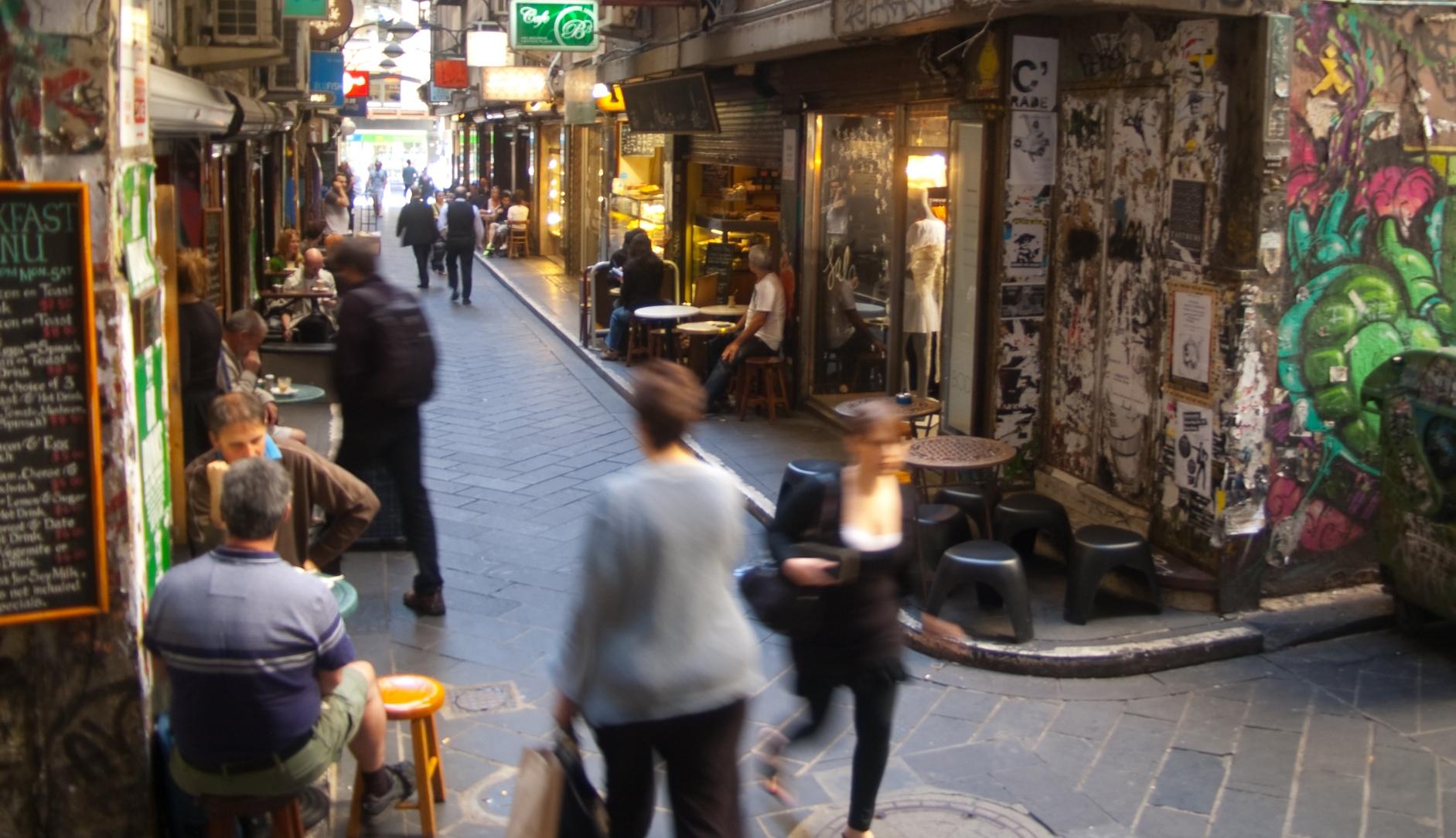 Melbourne's laneway cafe culture is bustling!